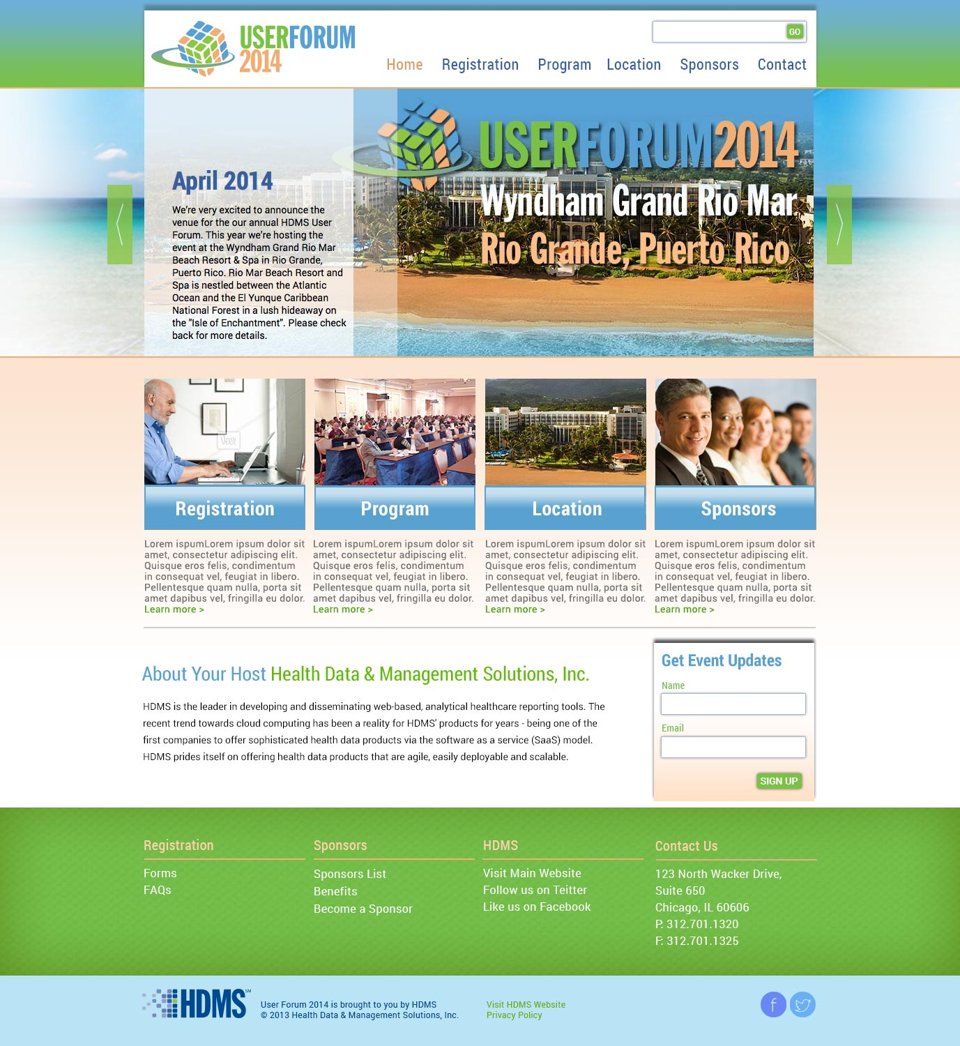 Healthcare Conference Responsive Website Design