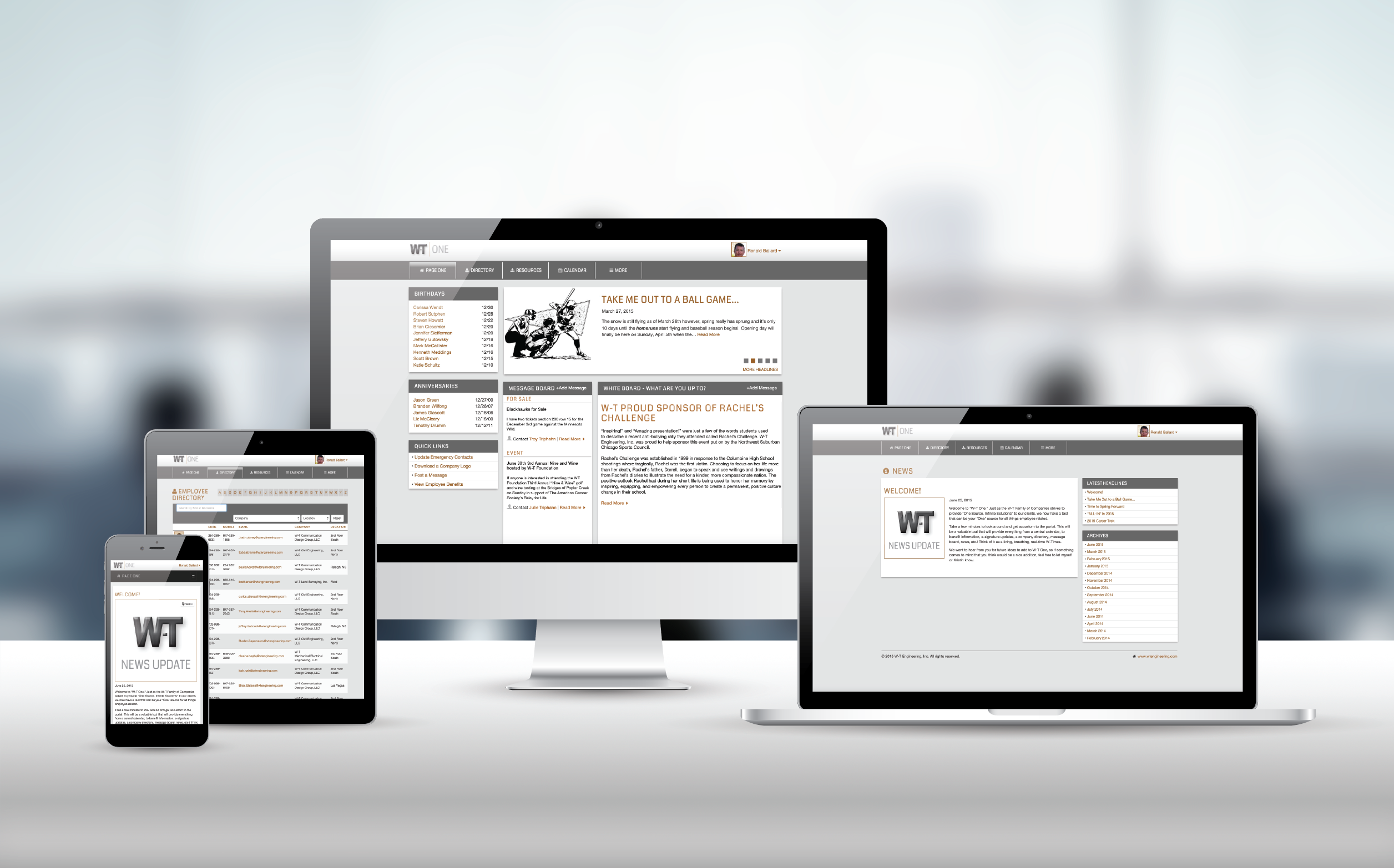 Employee Portal Responsive Website Design
