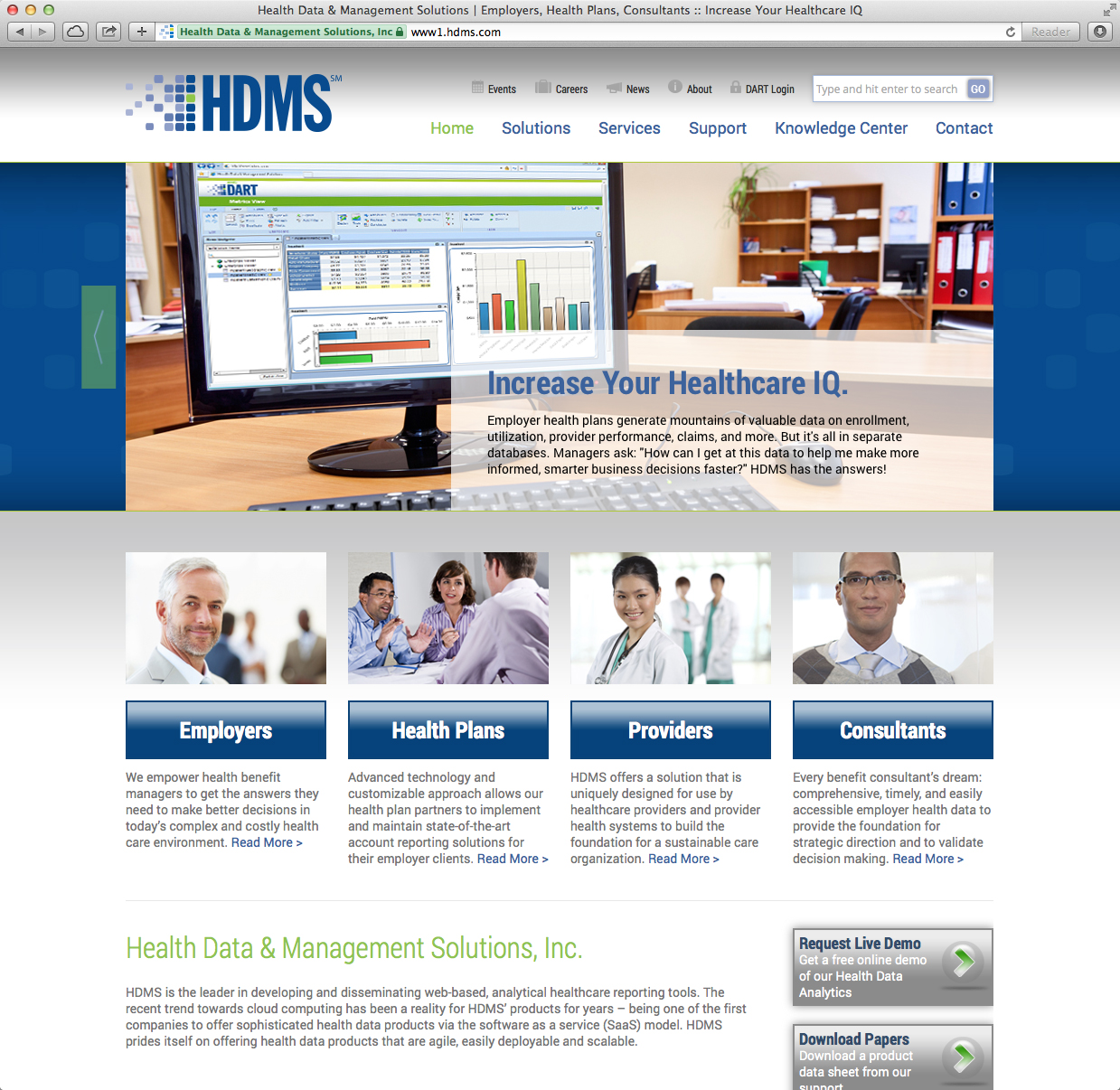 Healthcare Analyitcs Responsive Website Design