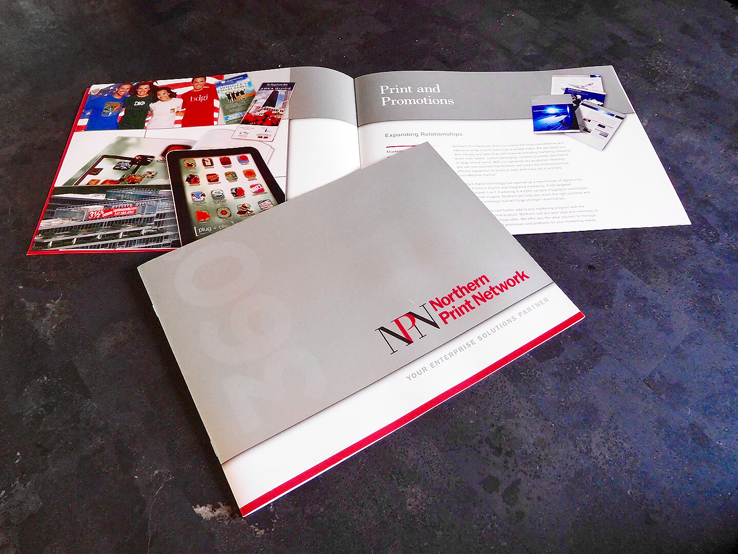 Full Color (6/6) Brochure with Spot Inks