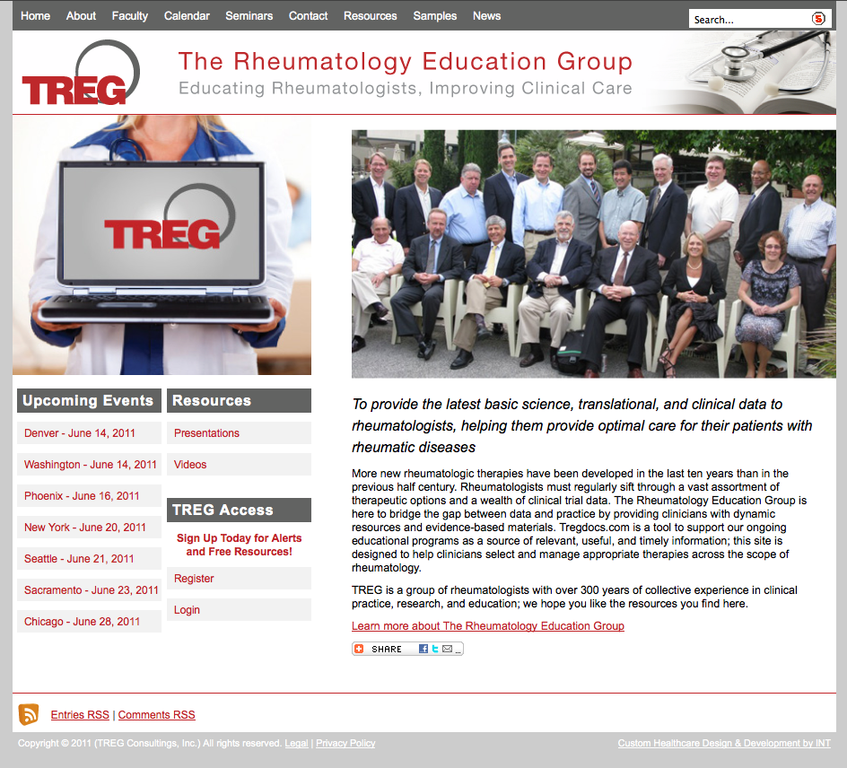 Rheumatology Website Design