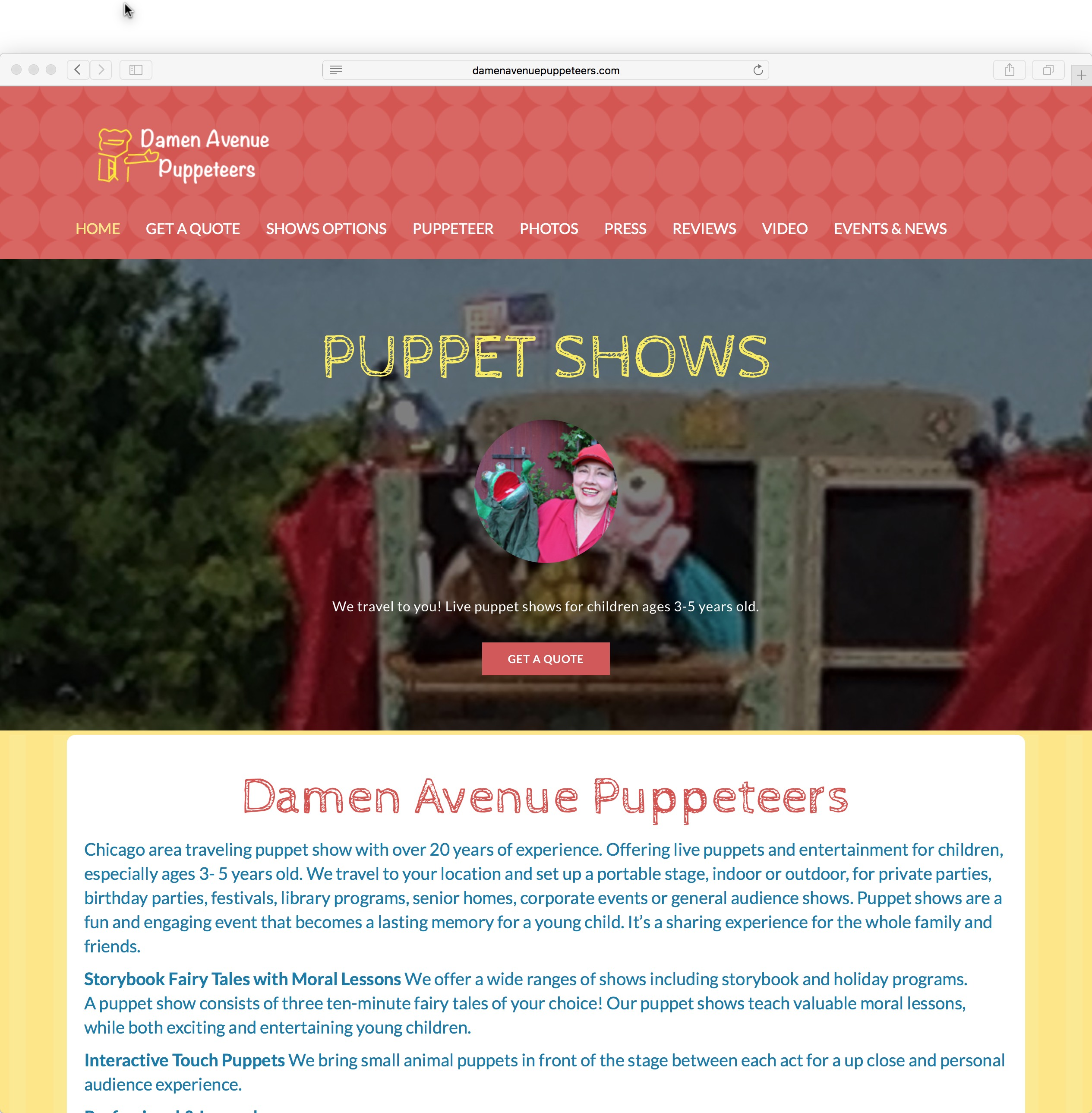 Entertainment Responsive Website Design