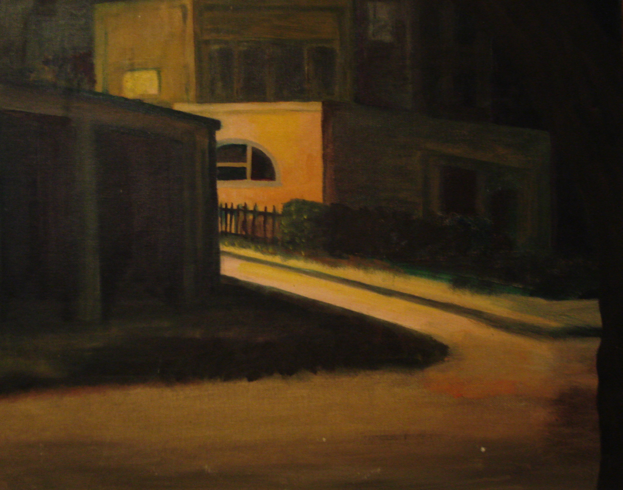 Alley Landscape Oil Painting