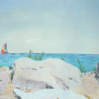 Landscape Oil Painting, Lake Michigan