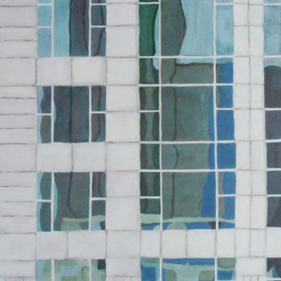 Abstract Building Series Oil Painting