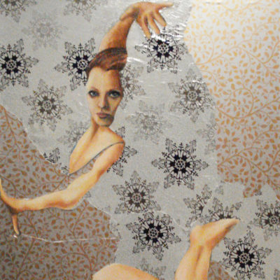 Wallpaper Series, Dancer Oil Painting