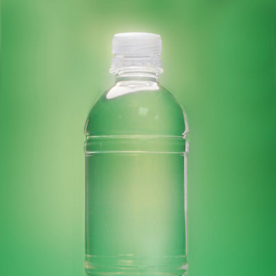 Product Photography, Bottle with Leaf Shadow