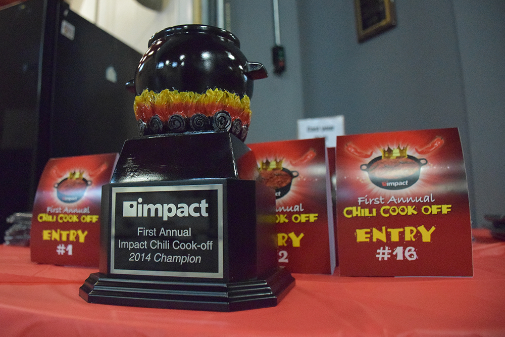 Chilli Cook Off Trophy & Table Tents