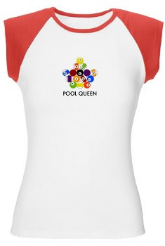Pool Queen T-shirt Crown Rack